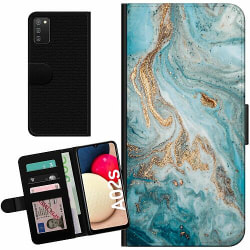 Samsung Galaxy A02s Billigt Fodral Magic Marble