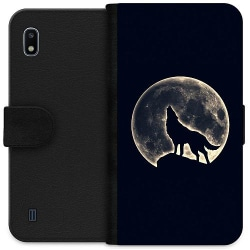 Samsung Galaxy A10 Wallet Case Howling Moon Wolf