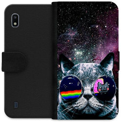 Samsung Galaxy A10 Wallet Case Space Cat