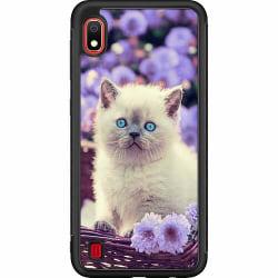 Samsung Galaxy A10 Soft Case (Svart) Cute Kitten