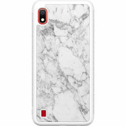 Samsung Galaxy A10 Soft Case (Vit) Marmor