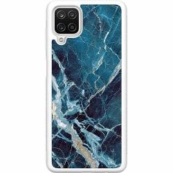 Samsung Galaxy A12 Soft Case (Vit) Marmor