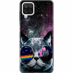 Samsung Galaxy A12 Mjukt skal - Space Cat