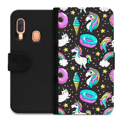 Samsung Galaxy A40 Wallet Case Unicorns