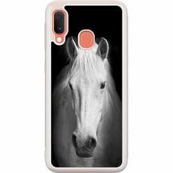 Samsung Galaxy A20e Soft Case (Frostad) Vit Häst