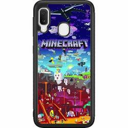 Samsung Galaxy A20e Soft Case (Svart) MineCraft