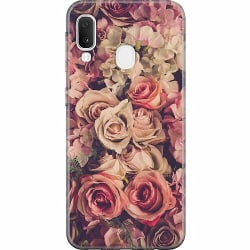 Samsung Galaxy A20e Thin Case Blommor