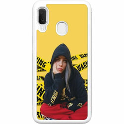 Samsung Galaxy A20e Soft Case (Vit) Billie Eilish