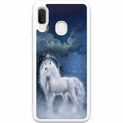 Samsung Galaxy A20e Soft Case (Vit) Magical Horse