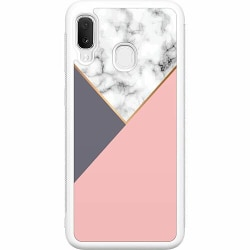 Samsung Galaxy A20e Soft Case (Vit) Marble Cut