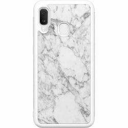 Samsung Galaxy A20e Soft Case (Vit) Marmor