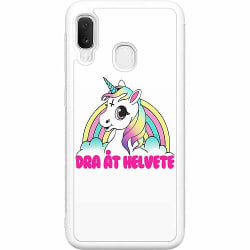 Samsung Galaxy A20e Soft Case (Vit) Unicorn - Dra Åt @!#