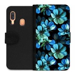 Samsung Galaxy A40 Wallet Case Midnight Garden