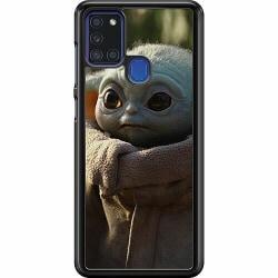 Samsung Galaxy A21s Hard Case (Svart) Baby Yoda