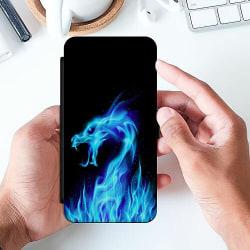 Apple iPhone X / XS Slimmat Fodral Fire Dragon Blue