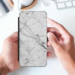 Huawei P40 Lite Slimmat Fodral Marmor Vit