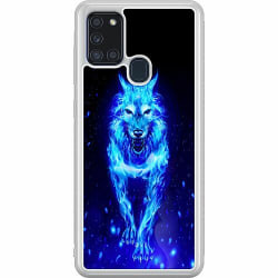 Samsung Galaxy A21s Soft Case (Frostad) Fire Wolf