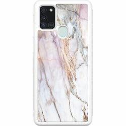 Samsung Galaxy A21s Soft Case (Vit) Marmor
