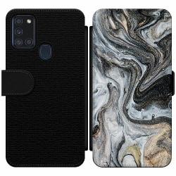 Samsung Galaxy A21s Wallet Slim Case Grå