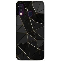 Samsung Galaxy A40 LUX Mobilskal (Matt) Svart