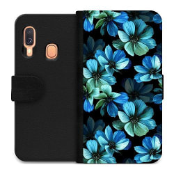 Samsung Galaxy A40 Wallet Case Midnight Garden