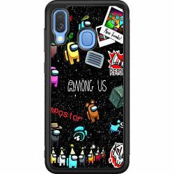 Samsung Galaxy A40 Soft Case (Svart) Among Us