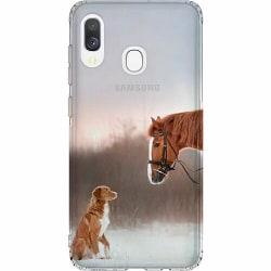 Samsung Galaxy A40 Thin Case Häst & Hund
