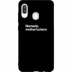 Samsung Galaxy A40 Thin Case Namaste, motherfuckers