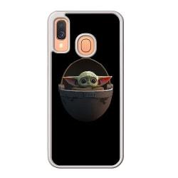 Samsung Galaxy A40 Soft Case (Frostad) Baby Yoda