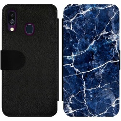 Samsung Galaxy A40 Wallet Slim Case Marbles x2