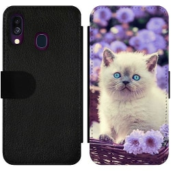 Samsung Galaxy A40 Wallet Slim Case Katt