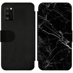Samsung Galaxy A41 Wallet Slim Case black marble