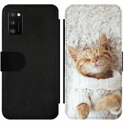Samsung Galaxy A41 Wallet Slim Case Kitty Sweater