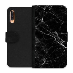Samsung Galaxy A50 Wallet Case black marble