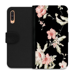 Samsung Galaxy A50 Wallet Case Floral Pattern Black