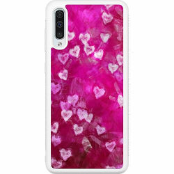 Samsung Galaxy A50 Soft Case (Vit) Can You See Hearts?