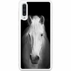 Samsung Galaxy A50 Soft Case (Vit) Häst