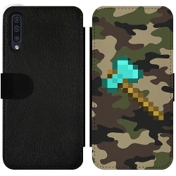 Samsung Galaxy A50 Wallet Slim Case Minecraft