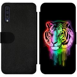 Samsung Galaxy A50 Wallet Slim Case Neon Tiger
