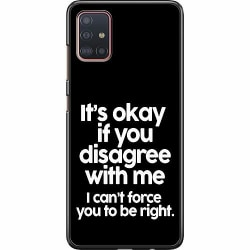 Samsung Galaxy A51 Hard Case (Svart) Text