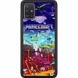 Samsung Galaxy A51 Soft Case (Svart) MineCraft