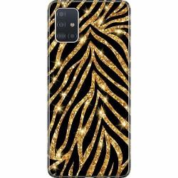 Samsung Galaxy A51 Thin Case Gold & Glitter