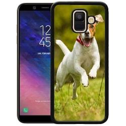 Samsung Galaxy A6 (2018) Soft Case (Svart) Happy Dog