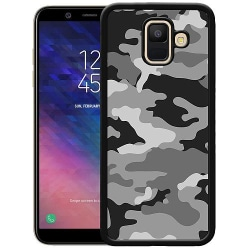 Samsung Galaxy A6 (2018) Soft Case (Svart) Military B/W