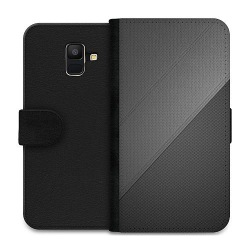 Samsung Galaxy A6 (2018) Wallet Case Black Leather