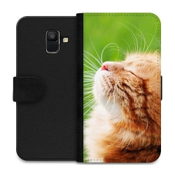 Samsung Galaxy A6 (2018) Wallet Case Cat in the Sun