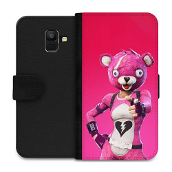Samsung Galaxy A6 (2018) Wallet Case Fortnite Pink Bear