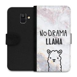 Samsung Galaxy A6 (2018) Wallet Case Llama Marble