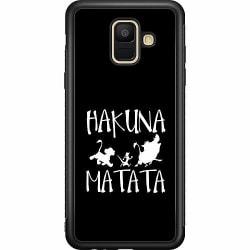 Samsung Galaxy A6 (2018) Soft Case (Svart) Hakuna Matata