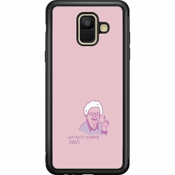 Samsung Galaxy A6 (2018) Soft Case (Svart) My phone bitch